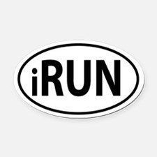 iRun Oval decal Oval Car Magnet