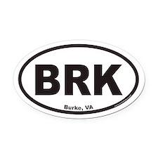 Burke BRK Euro Oval Car Magnet
