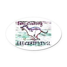 Lure Coursing Oval Car Magnet