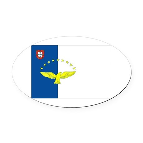 Azores Flag Oval Car Magnet