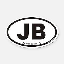 Jupiter Beach JB Euro Oval Car Magnet