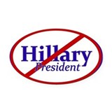 Anyone but hillary Oval Car Magnets