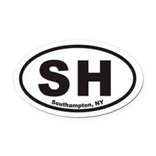 Southampton New York SH Euro Oval Car Magnet