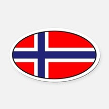 Norway (NOR) Flag Oval Car Magnet