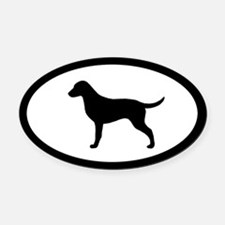 Curly-Coated Retriever Oval Car Magnet
