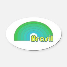 Unique Brasilian Oval Car Magnet