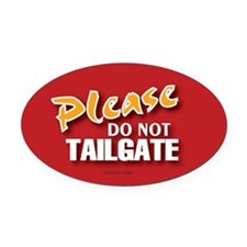 Cute Tailgate Oval Car Magnet