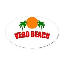 Cute Vero beach Oval Car Magnet