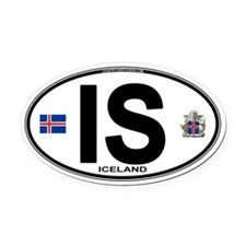 Iceland Euro Oval Car Magnet (Oval)