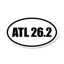 26.2 Atlanta ATL Marathon Oval Oval Car Magnet
