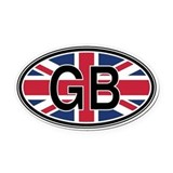 England Oval Car Magnets