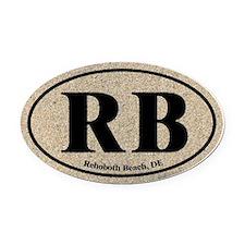 Rehoboth Beach RB Euro Oval Oval Car Magnet