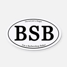 Babe Oval Car Magnet