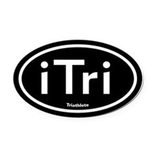 iTri Black Oval Car Magnet (Oval)