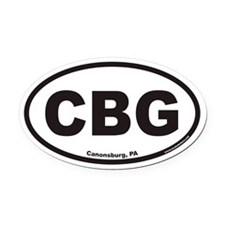CBG Canonsburg PA Euro Oval Car Magnet