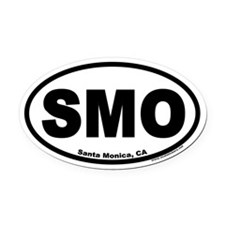 Santa Monica, California SMO Oval Car Magnet