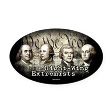 Right-Wing Extremists Oval Car Magnet