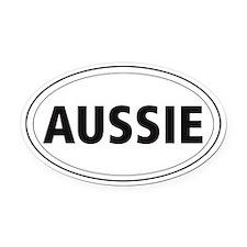 Australian Shepherd Oval Car Magnet