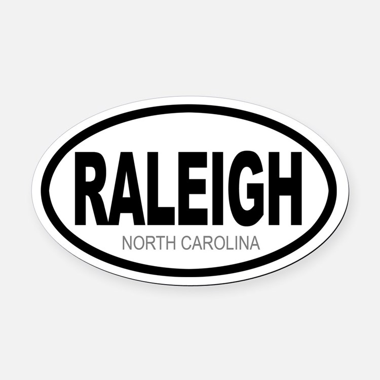 'RALEIGH' Oval Car Magnet