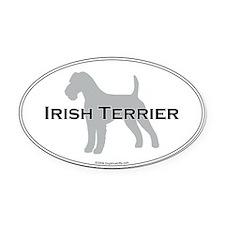 Irish Terrier Oval Car Magnet