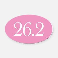 Marathon Pink Oval Car Magnet (Oval)