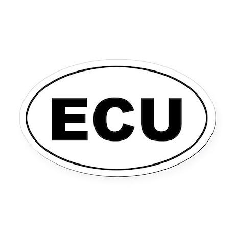 Ecuadorian (ECU) Oval Car Magnet by Admin_CP1263485