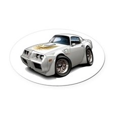 1979-81 Trans Am White Car Oval Car Magnet