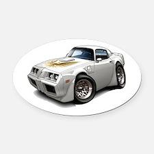 1979-81 Trans Am White Car Oval Car Magnet