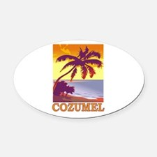 Cozumel, Mexico Oval Car Magnet
