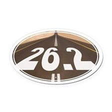 Unique 26.2 Painted Road - Oval Car Magnet
