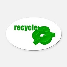 RECYCLE Oval Car Magnet