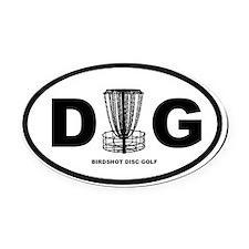 DG Oval - Disc Golf - Oval Car Magnet