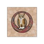 Celtic Owl Square Sticker 3