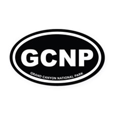 Black Grand Canyon National Park Oval Car Magnet