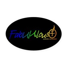 """FabUUlous"" Oval Car Magnet"