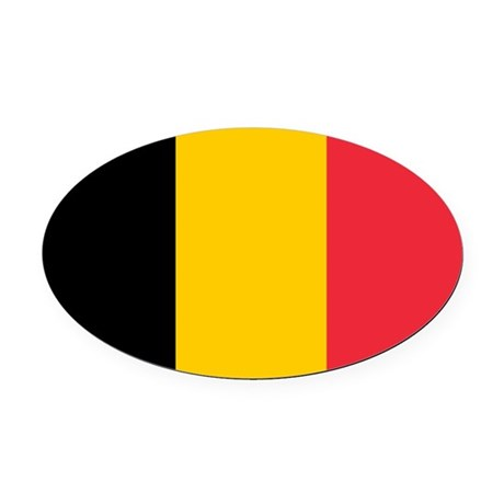 belgium flag coloring page - belgian flag oval car magnet by admin cp1067458
