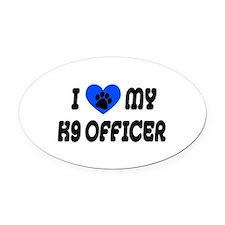 Love My K9 Officer Oval Car Magnet