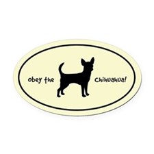 Obey the CHIHUAHUA! Silhouette Oval Car Magnet