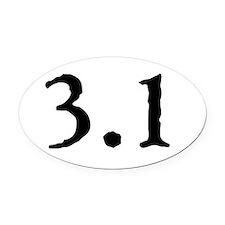 3.1 (5k) Round Oval Car Magnet