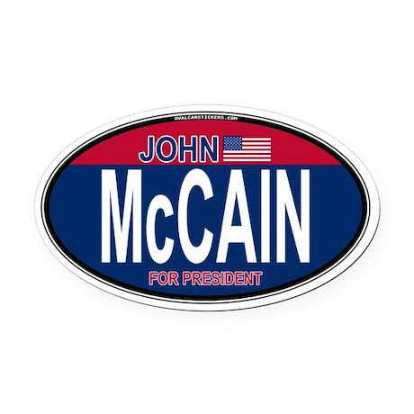 McCain RW&B Oval Oval Car Magnet