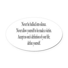 Define Yourself Oval Car Magnet