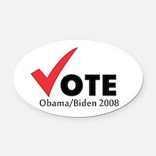 Vote Obama Biden 2008 Oval Car Magnet