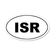 Israel (ISR) Oval Car Magnet