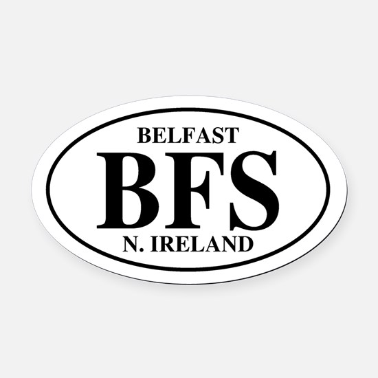 Belfast, Northern Ireland Oval Car Magnet