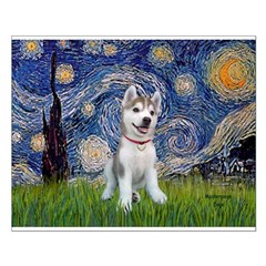 Starry-Siberian pup Posters