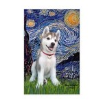 Starry-Siberian pup Mini Poster Print