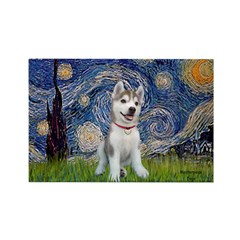 Starry-Siberian pup Rectangle Magnet