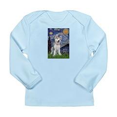 Starry-Siberian pup Long Sleeve Infant T-Shirt