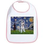 Starry-Siberian pup Bib