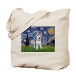 Starry-Siberian pup Tote Bag
